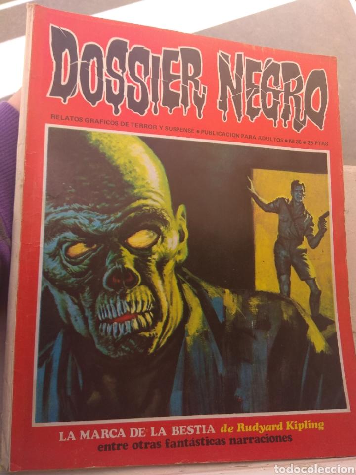 Tebeos: Revista Dossier Negro N°36 - Foto 2 - 152450718