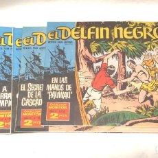 Tebeos: LOTE 7 CÓMICS EL DELFÍN NEGRO IBERO MUNDIAL 1962, LISTA PUBLICADA BUEN ESTADO. Lote 201831500
