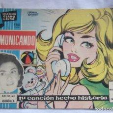 Tebeos: COLECCIÓN CLARO DE LUNA NÚM. 61 COMUNICANDO. Lote 156003946