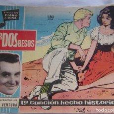 Tebeos: COLECCIÓN CLARO DE LUNA NÚM. 97 POR DOS BESOS. Lote 156007330