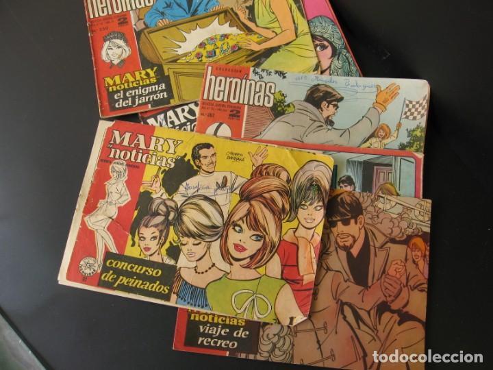 LOTE DE 6 TEBEOS COMICS SERIE HEROINAS MARY NOTICIAS DIBUJOS CARMEN BARBARA (Tebeos y Comics - Ibero Mundial)