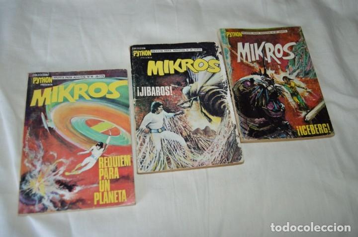 LOTE 03 REVISTA PARA ADULTOS - PYTHON / MIKROS - NÚMEROS 18 - 26 Y 29 - ¡MIRA FOTOGRAFÍAS/DETALLES! (Tebeos y Comics - Ibero Mundial)