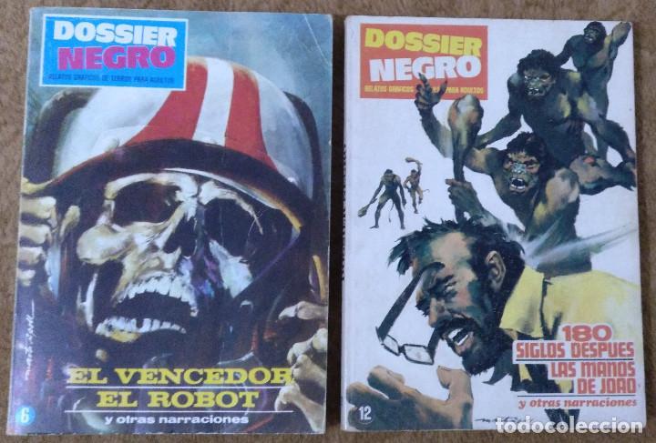 DOSSIER NEGRO Nº 6 Y 12 (IBEROMUNDIAL 1968/70) TAPAS DE CARTON 21X15 CM. Y 128 PÁGINAS. (Tebeos y Comics - Ibero Mundial)