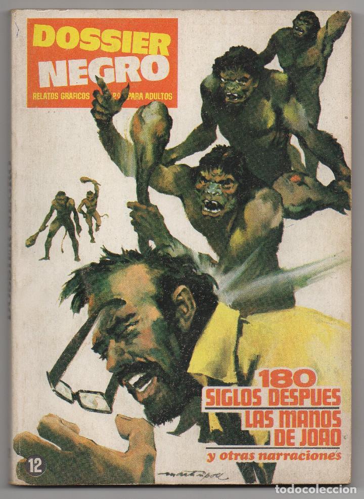 Tebeos: DOSSIER NEGRO nº 6 y 12 (Iberomundial 1968/70) Tapas de carton 21x15 cm. y 128 páginas. - Foto 5 - 168047444