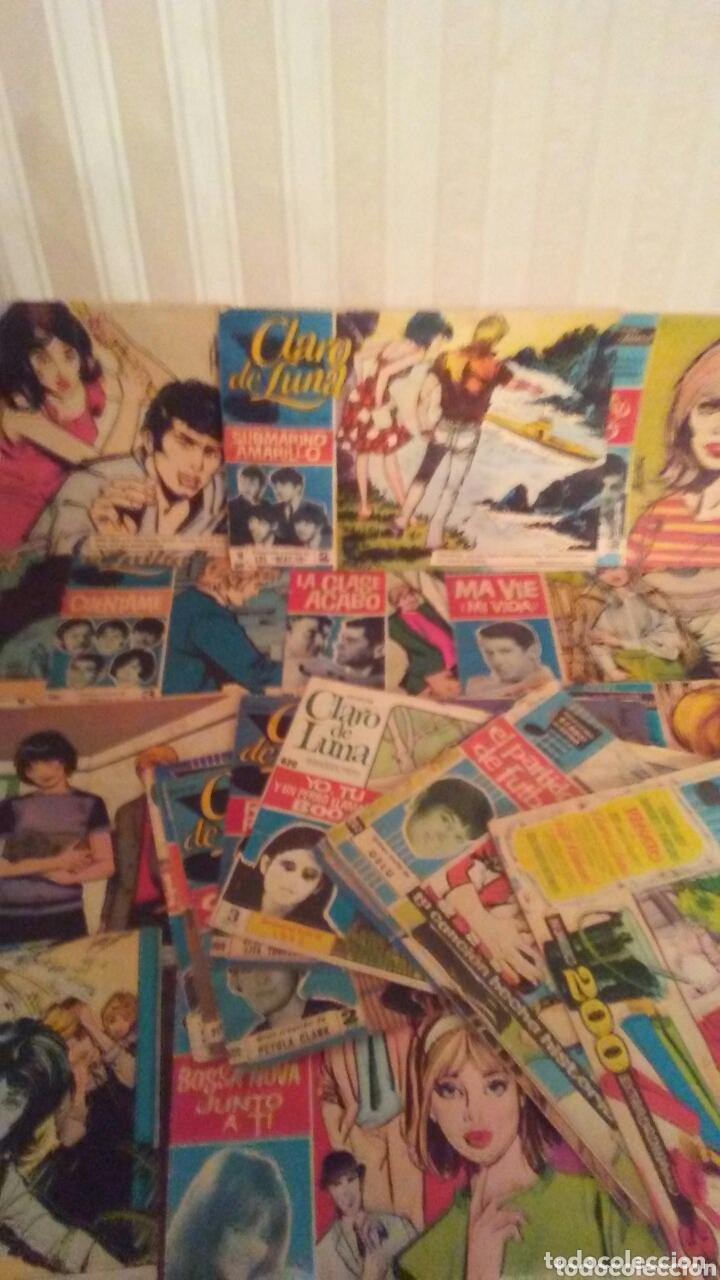 Tebeos: Lote de 23 ejemplares de Claro de Luna,años 60 todos tienen cantante y cancion. - Foto 2 - 172320648