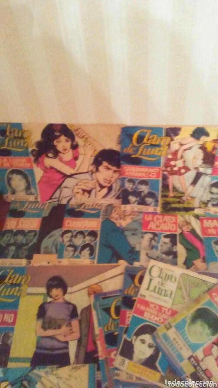 Tebeos: Lote de 23 ejemplares de Claro de Luna,años 60 todos tienen cantante y cancion. - Foto 3 - 172320648