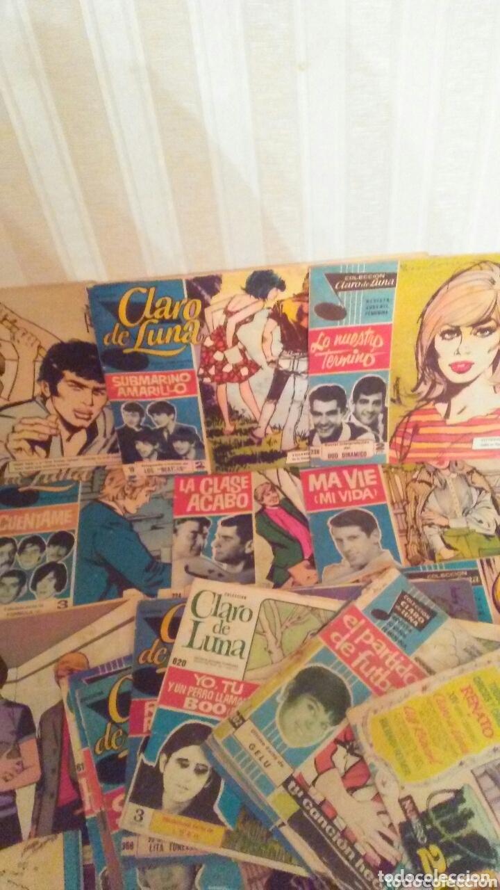 LOTE DE 23 EJEMPLARES DE CLARO DE LUNA,AÑOS 60 TODOS TIENEN CANTANTE Y CANCION. (Tebeos y Comics - Ibero Mundial)