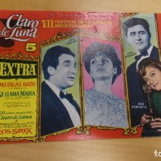 Tebeos: CLARO DE LUNA . VII FESTIVAL DE LA CANCION MEDITERRANEA . . Lote 173203028