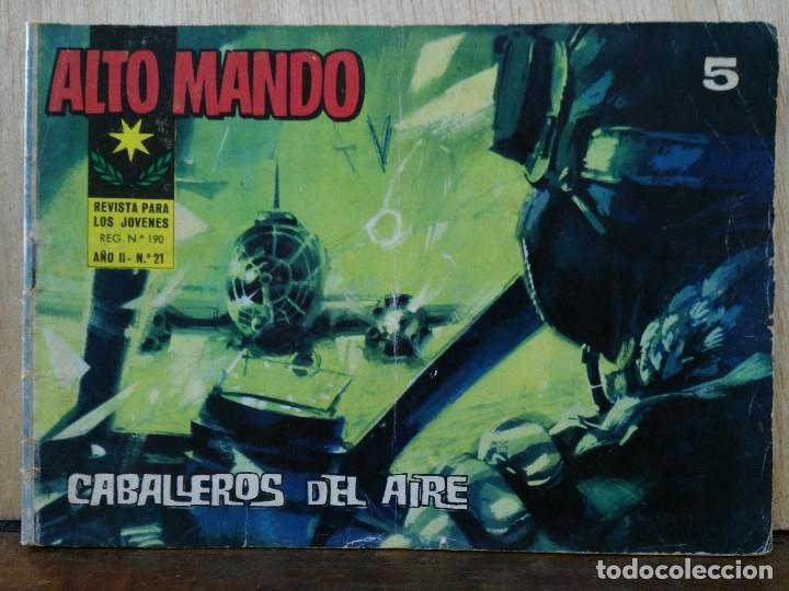 ALTO MANDO - AÑO II, Nº 21 CABALLEROS DEL AIRE - ED. IBERO MUNDIAL (Tebeos y Comics - Ibero Mundial)