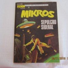 Tebeos: COLECCION PYTHON MIKROS Nº 19. IBERO MUNDIAL. 1970 TACO 25 PTAS - 128 PÁGINAS EN BUENISIMO ESTADO. Lote 182293250