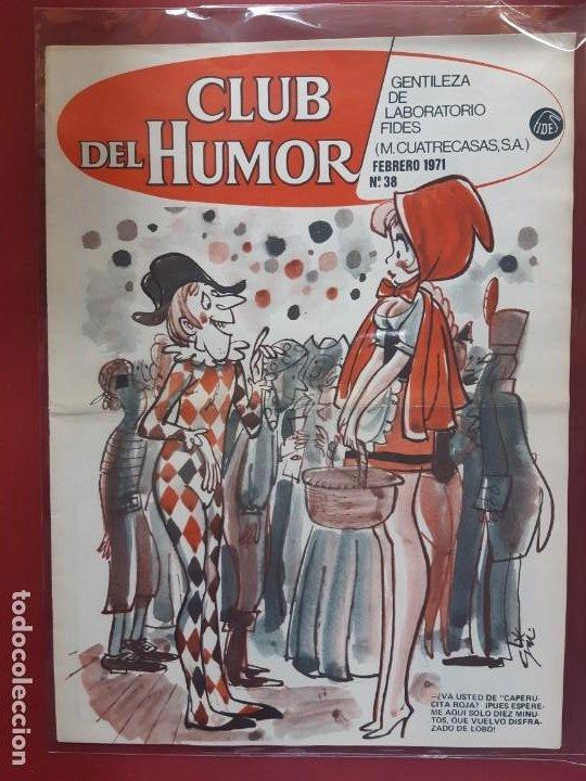CLUB DEL HUMOR Nº 38 EXCELENTE ESTADO 1969 (Tebeos y Comics - Ibero Mundial)