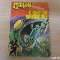 Tebeos: COLECCIÓN PYTHON Nº 7. EL MONSTRUO INDESTRUCTIBLE. EDITA IBERO MUNDIAL. Lote 195230136