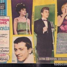 Tebeos: CLARO DE LUNA EXTRA. XIII FESTIVAL DE SAN REMO. Lote 200032298