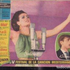 Tebeos: CLARO DE LUNA EXTRA V FESTIVAL DE LA CANCIÓN MEDITERRANEA. Lote 200032796