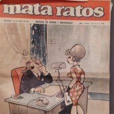 Tebeos: MATA RATOS NUM 11 DE 23 JULIO 1965. Lote 213976722