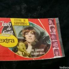 Tebeos: CLARO DE LUNA FESTIVAL DE SAN REMO 1967. Lote 214919801