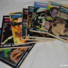 Livros de Banda Desenhada: DOSSIER NEGRO / IBERO MUNDIAL / LOS 8 PRIMEROS NÚMEROS - BUEN ESTADO / FINALES 60 - ¡MIRA!. Lote 220834823