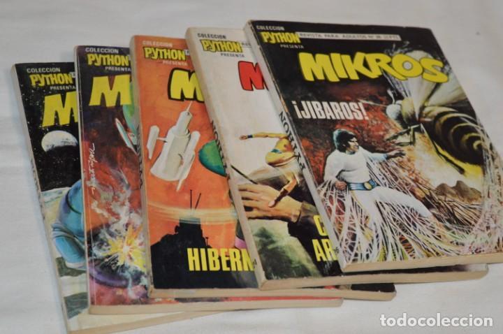 MIKROS - COLECCIÓN PYTHON / IBERO MUNDIAL / 5 NÚMEROS VARIADOS - BUEN ESTADO / AÑOS 70 - ¡MIRA! (Tebeos y Comics - Ibero Mundial)