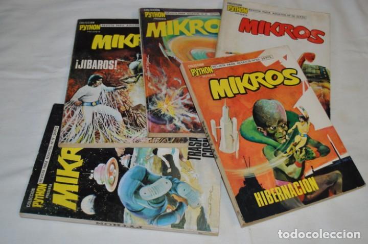 Tebeos: MIKROS - Colección PYTHON / Ibero Mundial / 5 NÚMEROS VARIADOS - Buen estado / Años 70 - ¡Mira! - Foto 2 - 220838278