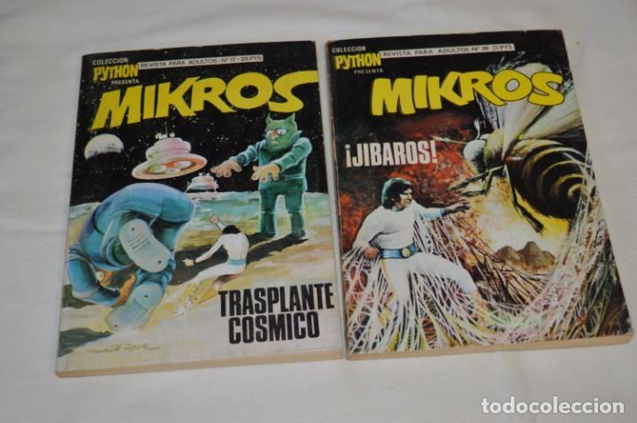Tebeos: MIKROS - Colección PYTHON / Ibero Mundial / 5 NÚMEROS VARIADOS - Buen estado / Años 70 - ¡Mira! - Foto 3 - 220838278