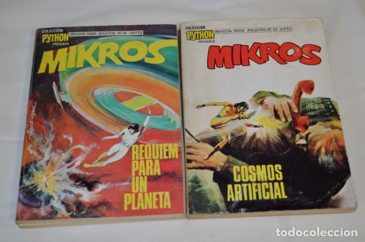 Tebeos: MIKROS - Colección PYTHON / Ibero Mundial / 5 NÚMEROS VARIADOS - Buen estado / Años 70 - ¡Mira! - Foto 4 - 220838278