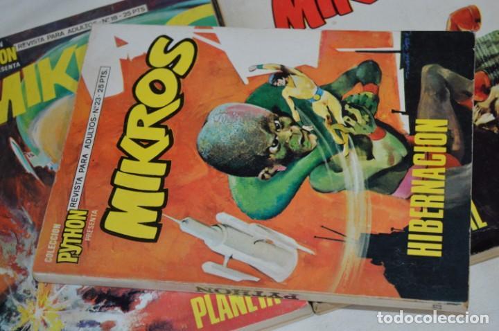 Tebeos: MIKROS - Colección PYTHON / Ibero Mundial / 5 NÚMEROS VARIADOS - Buen estado / Años 70 - ¡Mira! - Foto 5 - 220838278