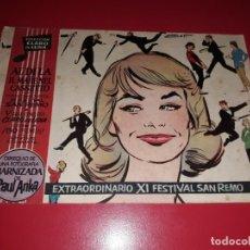 Tebeos: CLARO DE LUNA EXTRA XI FESTIVAL SAN REMO. Lote 221485012