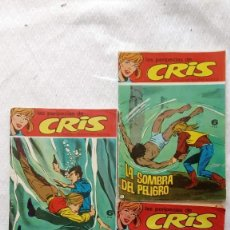 Tebeos: LAS PERIPECIAS DE CRIS NºS - 1,2,3 EDI. IBERO MUNDIAL 1967. Lote 225627962