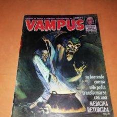 Tebeos: VAMPUS . Nº 42. 1974. IBERO MUNDIAL DE EDICIONES. CON POSTER. Lote 227232800