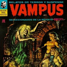Tebeos: VAMPUS-IMDE- Nº 17 -REED CRANDALL-AURALEÓN-J.SPARLING-REED CRANDALL-1973-DIFÍCIL-CON PÓSTER-LEA-4116. Lote 228032295