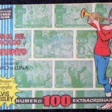 Tebeos: CLARO DE LUNA EXTRA Nº 100 (VUELVE A SORRENTO - ELVYIS PRESLEY) NO CONTIENE LA FOTO. Lote 228292125