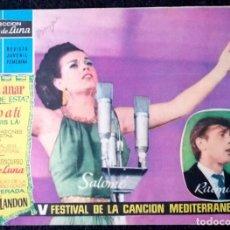 Tebeos: CLARO DE LUNA - V FESTIFAL DE LA CANCIÓN MEDITERRANEA - IBERO-MUNDIAL 1963 ''MUY BUEN ESTADO''. Lote 228310000