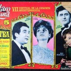 Tebeos: CLARO DE LUNA - EXTRA - VII FESTIVAL DE LA CANCIÓN MEDITERRANEA - IBERO-MUNDIAL 1965. Lote 228311033