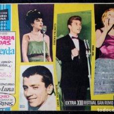 Tebeos: CLARO DE LUNA - EXTRA - XIII FESTIVAL DE SAN REMO 1965 - IBERO-MUNDIAL 1963 ''BUEN ESTADO''. Lote 228313280