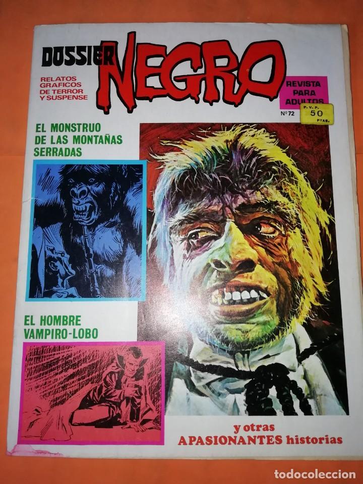 DOSSIER NEGRO. Nº 72. IBERO MUNDIAL EDICIONES. 1976 .FALTAN 2 PAGINAS. (Tebeos y Comics - Ibero Mundial)
