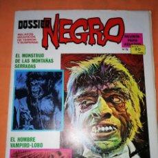 Tebeos: DOSSIER NEGRO. Nº 72. IBERO MUNDIAL EDICIONES. 1976 .FALTAN 2 PAGINAS.. Lote 229507195