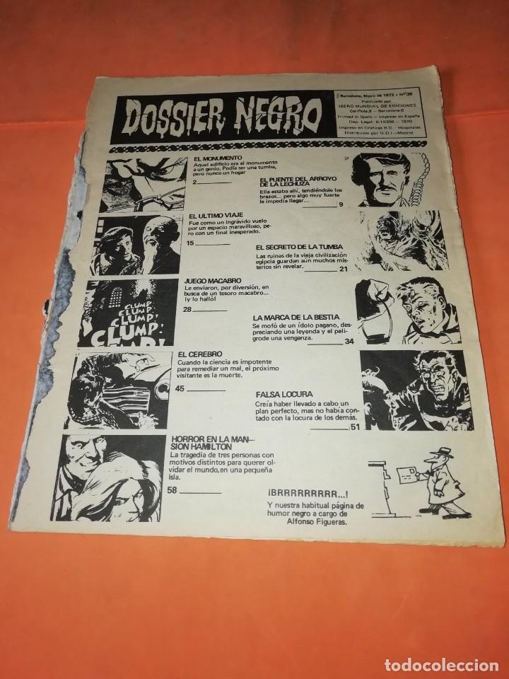Tebeos: DOSSIER NEGRO. Nº 36. IBERO MUNDIAL EDICIONES. 1972 . sin portada - Foto 2 - 229514530