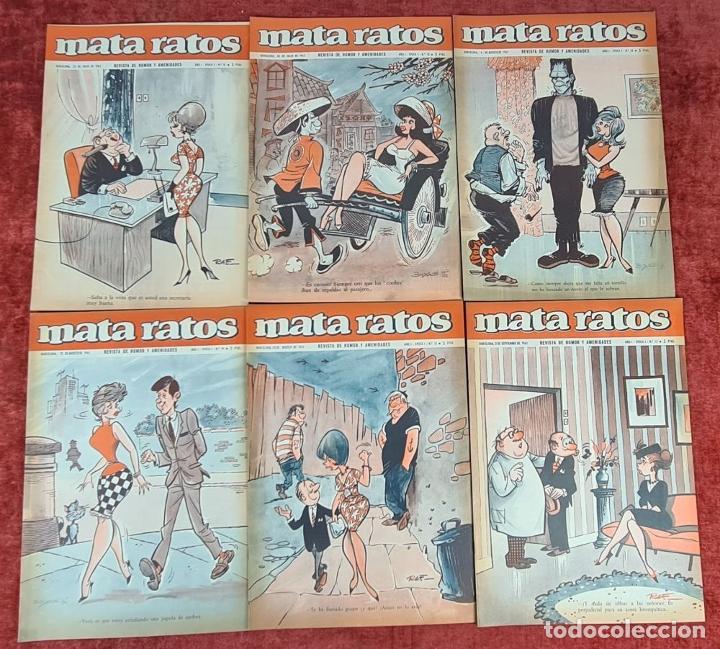 Tebeos: COLECCION DE 61 REVISTAS DE HUMOR MATA RATOS. IBERO MUNDIAL. AÑOS 60. - Foto 3 - 230554370