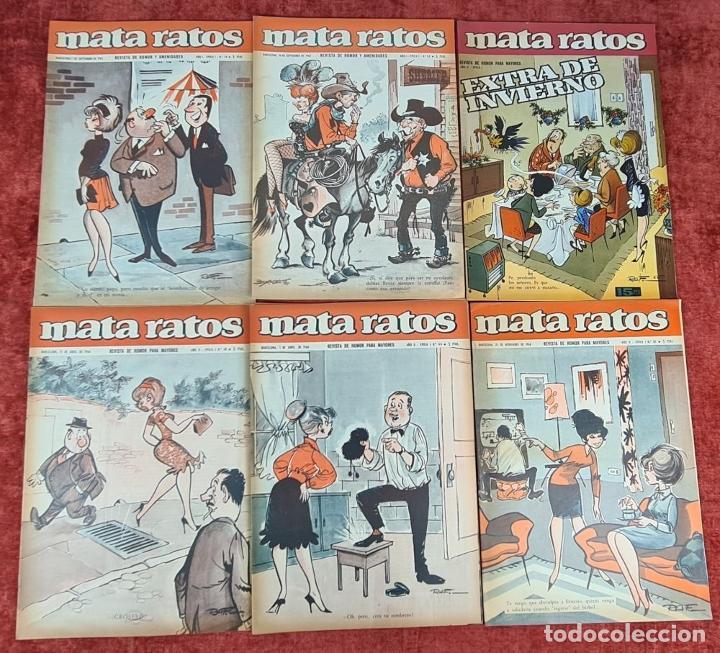 Tebeos: COLECCION DE 61 REVISTAS DE HUMOR MATA RATOS. IBERO MUNDIAL. AÑOS 60. - Foto 6 - 230554370