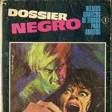 Tebeos: (M1) DOSSIER NEGRO N.1 IBERO MUNDIAL EDICIONES, AÑO 1968, SEÑALES DE USO. Lote 237929830