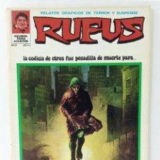 Tebeos: RUFUS Nº 2 - RELATOS GRÁFICOS DE TERROR Y SUSPENSE - IBERO MUNDIAL - 1973. Lote 241594875