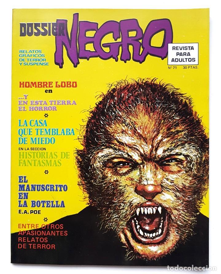 DOSSIER NEGRO Nº 71 RELATOS GRAFICOS DE TERROR Y SUSPENSE IBERO MUNDIAL DE EDICIONES 1975 (Tebeos y Comics - Ibero Mundial)