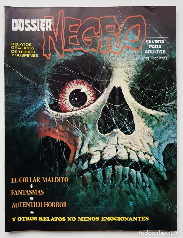 DOSSIER NEGRO Nº 73 RELATOS GRAFICOS DE TERROR Y SUSPENSE IBERO MUNDIAL DE EDICIONES 1975 (Tebeos y Comics - Ibero Mundial)