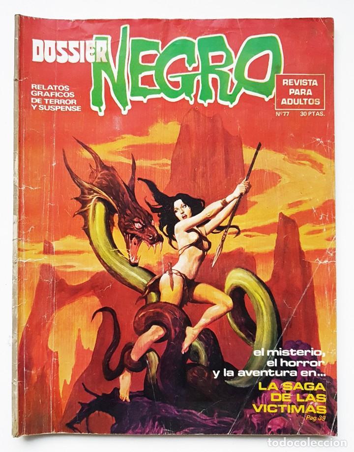 DOSSIER NEGRO Nº 77 RELATOS GRAFICOS DE TERROR Y SUSPENSE IBERO MUNDIAL DE EDICIONES 1975 (Tebeos y Comics - Ibero Mundial)
