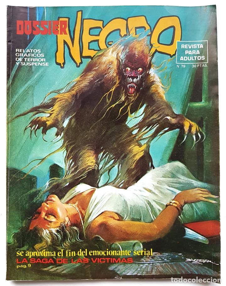 DOSSIER NEGRO Nº 79 RELATOS GRAFICOS DE TERROR Y SUSPENSE IBERO MUNDIAL DE EDICIONES 1975 (Tebeos y Comics - Ibero Mundial)