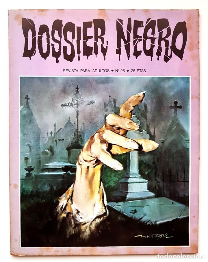 DOSSIER NEGRO Nº 26 RELATOS GRAFICOS DE TERROR Y SUSPENSE IBERO MUNDIAL DE EDICIONES 1971 (Tebeos y Comics - Ibero Mundial)