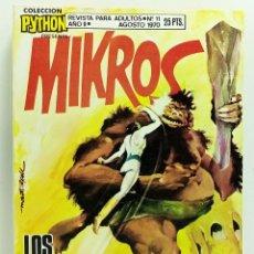 Giornalini: COMIC PYTHON Nº 11 MIKROS LOS ARMENIOLOS - IBERO MUNDIAL DE EDICIONES - 1970 - BUEN ESTADO. Lote 249010025