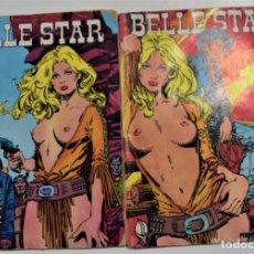 Livros de Banda Desenhada: LOTE 2 TEBEOS BELLE STAR Nº 1 Y 3 - IBERO MUNDIAL DE EDICIONES 1977. Lote 253833225