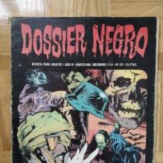 Tebeos: COMIC DOSSIER NEGRO Nº 20 RELATOS GRAFICOS DE TERROR Y SUSPENSE IBERO MUNDIAL DE EDICIONES 1970. Lote 254023300