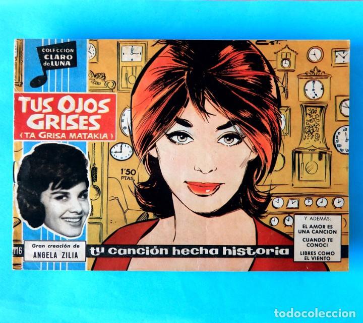 COLECCIÓN CLARO DE LUNA - Nº 116 - TUS OJOS GRISES - ANGELA ZILIA - 1961 - IBERO MUNDIAL -ORIGINAL - (Tebeos y Comics - Ibero Mundial)